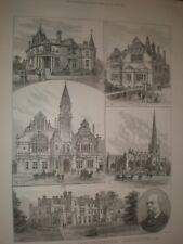 Views around Trowbridge 1889 prints ref AR