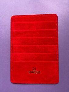 OMEGA LEATHER CARD HOLDER - RED