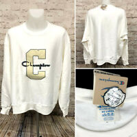 NEW Champion LIFE Reverse Weave White Varsity C Pullover Sweatshirt Mens Sz 3XL