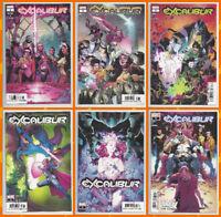EXCALIBUR #1 2 3 4 5 & 6 SET (1st PRINT) Rogue Gambit X-Men Marvel 2019 NM- NM