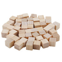 Wood Cubes Natural Unfinished Wooden Blocks Craft Small Wood Square Block DB