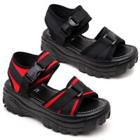Women Creeper Platform Shoes Sandals Roman Buckle Sport Gothic Open Toe Strappy