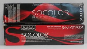 Matrix SOCOLOR HD COLOR TECHNOLOGY Permanent Cera Oil Hair Color ~ 3 fl oz!!