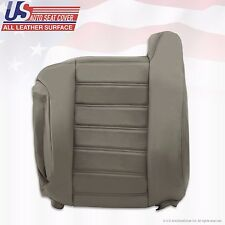 2003 to 2007 Hummer H2 Driver Side top Back Synthetic Leather Seat Cover Gray