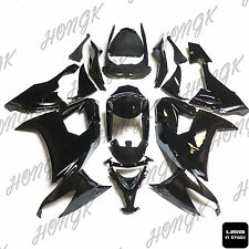 Black INJECTION Fairing Kit Fit Kawasaki ZX-10R 2009 2008-2010 004 VV