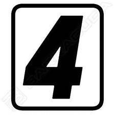 "N400/0 BARRACUDA 1 ADESIVO ""4"" per KIT TABELLE PORTA NUMERO per DUCATI SCRAMBLER"