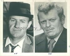 1976 Portraits of Gene Hackman and Eddie Egan Original News Service Photo