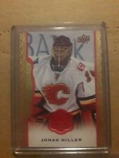14/15 UD Masterpieces Jonas Hiller Red Cloth Jersey #d /85
