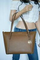 NWT MICHAEL KORS CIARA LARGE TOP ZIP TOTE SHOULDER SAFFIANO LEATHER BAG LUGGAGE