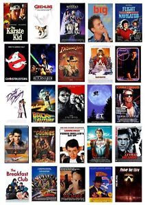 BEST 80'S MOVIE COLLECTION COLLAGE WALL ART POSTER **IMAGES CAN BE CHANGED**