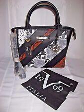 New VERSACE Handbag PURSE 19-69 ABBIGLIAMENTO SPORTIVO SRL Italy BLACK w/ BAG