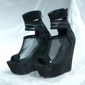 BY ALINA Keilabsatz Pumps Damenschuhe Wedges Jeans High Heels Plateau 39 #V25