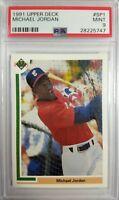 1991 91 Upper Deck MICHAEL JORDAN #SP1, Baseball WHITE SOX, Graded PSA 9 MINT