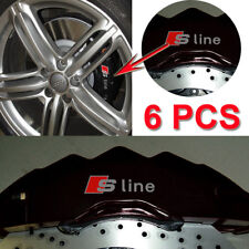 Cast Vinyl Brake Caliper S Line Decal Sticker Emblems Fits All Model A1 A3 A4 A5