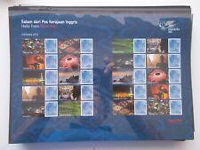 2012 Hello Indonesia Stamp Exhibition Royal Mail Smiler Sheet - LS81 Superb U/M
