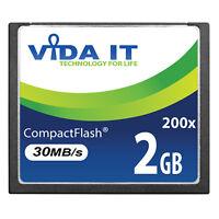 2GB 30MB/s Compact Flash CF Memory Card Record 4K UHD Video For Digital Camera