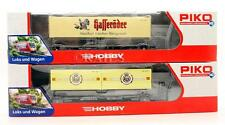 PIKO 'HO' GAUGE PAIR OF ASSORTED CONTAINER WAGONS (6D)