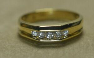 14k Channel Set Diamond Ring Band