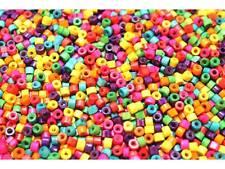 MIX ca.1000 Stück Mini Holzperlen bunte Perlen Zylinder Holz 4x3mm #8270