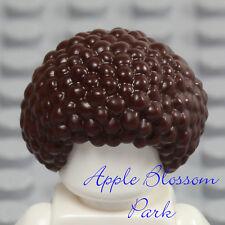 NEW Lego Minifig Dark BROWN HAIR - Male/Female Short Curly Afro Bubble Head Gear