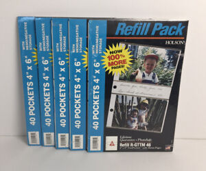 Holson Photo Album Refill Pack Lot Of (5) R-GTTM 46 (200 Pockets)