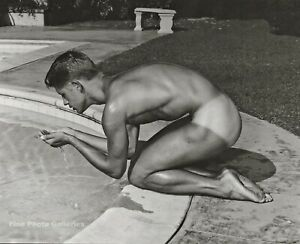 1950s BRUCE BELLAS of Los Angeles Male Nude MARK NIXON Gay Photo Engraving 11X14