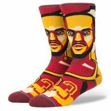 Postura para hombres LeBron James NBA Cleveland Cavaliers Mosaico Calcetines-Marrón/Amarillo