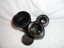 Joblot of 4 x Camera Lenses 1 x Canon,1 Tokina, 1 Kiron, Tokina RMC 80-200mm 1:4