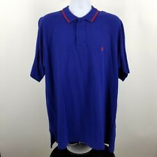 Polo Golf Ralph Lauren Men's Blue w/ Red Pony Adult S/S Polo Shirt Sz XL