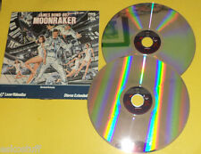 James Bond 1979 Moonraker 2 Laser Disc set! Roger Moore Lois Chiles Nice See!