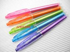 Pilot Frixion 04mm Extra Fine Point Erasable Gel Rollerball Pen 5 Colours Set