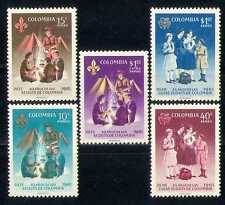 Colombia 1962 Scouts/Guides/Fire/Leisure 5v set  n27387