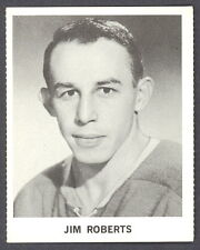 1965 COCA-COLA COKE JIM ROBERTS RC EX-NM MONTREAL CANADIENS HOCKEY CARD