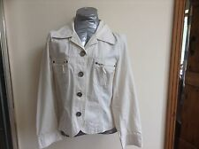 Ladies unlined cotton jacket size 10 Eur 38 by Miss Etam