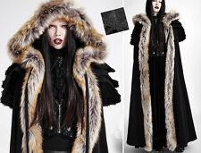 Cape longue manteau gothique lolita baroque capuche volants fourrure Punkrave N