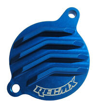 REC MX Blue Billet Oil Filter Cover 2006-15 Kawasaki KX450F / KFX450R / KLX450R