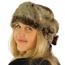 2 in 1 Winter Faux Fur Knit Headwrap Headband Neck Warmer Scarf Wrap Ski Natural