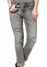 Miss Me Weekend Light Grey Boyfriend Ankle Distressed Jeans Size 29 $103 NWT
