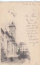 TOULON la cathédrale timbre noir 10 1901