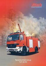 Prospetto Metz SERBATOIO Autopompa TLF 24/50 5 00 2000 POMPIERI CAMION FIRE TRUCK