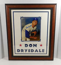 Don Drysdale Signed Photo with Name in Matting Dodgers Auto Framed DA025280