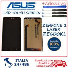 DISPLAY LCD VETRO TOUCH SCREEN PER ASUS ZENFONE 2 LASER  ZE600KL Z00MD NERO