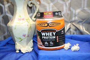 Body Fortress Super Advanced Whey Protein Powder Gluten Free Strawberry 2 Pound