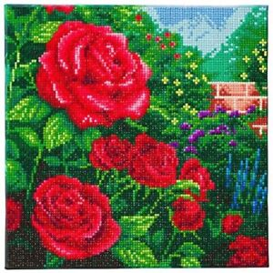Craft Buddy Crystal Art A perfect red rose 30X30 cm DIY canvas picture kit  NEW
