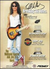 Eddie Van Halen 1998 Peavey EVH Wolfgang Special Guitar ad 8 x 11 advertisement