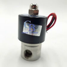 "1/4"" BSPP Stainless Steel 304 Normally Closed Electric Solenoid Valve 12V DC"