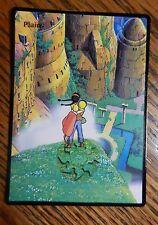 Magic the Gathering Basic Land MTG altered art Ghibli Laputa Plains