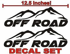 4x4 OFF ROAD Truck Decals Gloss Black (Set) for Ford F-150 Super Duty and Ranger