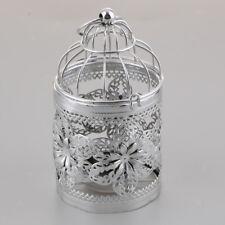 Wedding Decor Candle Holder Bird Cage Tea Light Candlestick -E-Silver