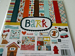 Echo Park Bark 12x12 Collection Kit Paper Stickers  Scrpabooking Card Making